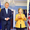 Press center carl bildt and hillary clinton
